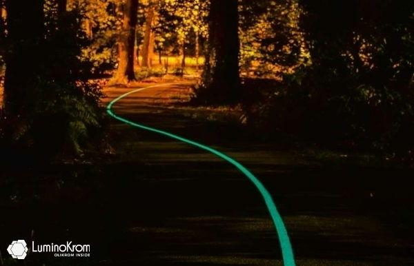 Peinture LuminoKrom Vision+ sur piste cyclabe de Pessac (33, France) - ©Olikrom