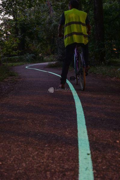 Piste cyclable lumineuse LuminoKrom Pessac (33) – OliKrom©