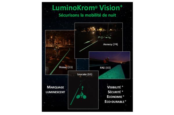 peinture routière photoluminescente LuminoKrom – OliKrom©