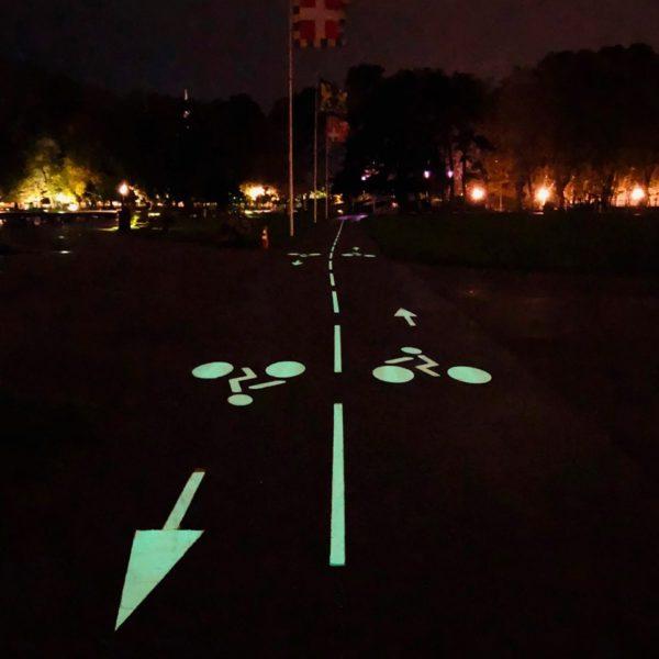 Piste cyclable lumineuse LuminoKrom Annecy – OliKrom©