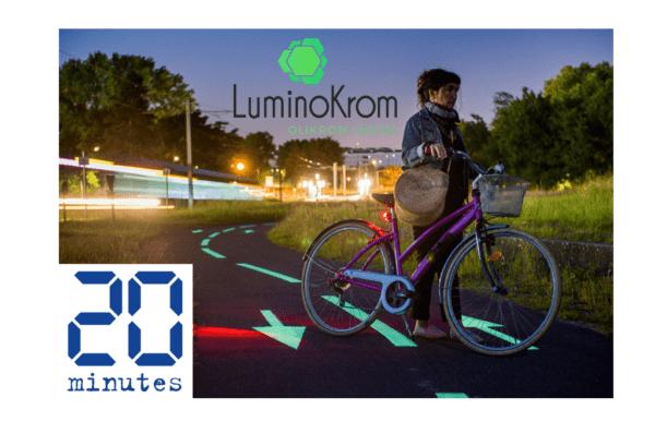 Piste cyclable photoluminescente