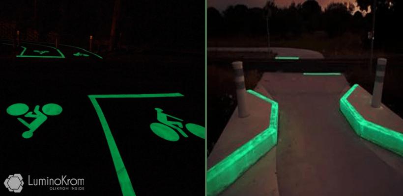 Marquage lumineux sur zone accidentogène – OliKrom©