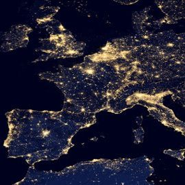 Carte de France, pollution lumineuse
