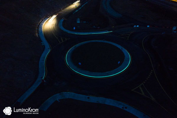 Marquage luminescent Rond-Point RN 79 Trivy (71)