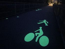 Les pistes cyclables s'illuminent désormais la nuit à Lambézellec - Yohann Nedélec