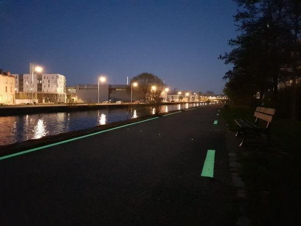 Piste cyclable lumineuse LuminoKrom Nancy – OliKrom©